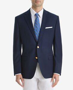 Lauren Ralph Lauren Men's Navy Classic-Fit Neat Ultra Flex Sport Coat Blazer 56R