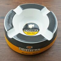"COHIBA Cigar Ashtray 8"" Round Cigarettes Large Rest Outdoor Cigars Ashtray"