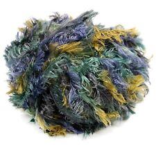 Crystal Palace Splash #7189 Tidepool -Blues Olive Feather Boa Eyelash Yarn 100gr