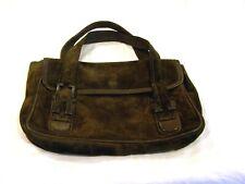 Marianelli brown suede purse/handbag/pocketbook with leather interior