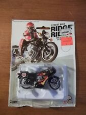 VINTAGE STREET BIKE RIDGE RIDER Die-cast METAL CAFE RACER STP MOTORCYCLE FLAMES