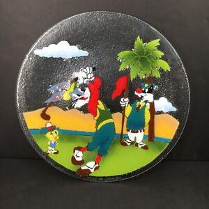 Golf Lover Bugs Bunny Sylvester Tweety Bird Serving Platter Decor Plate Handmade