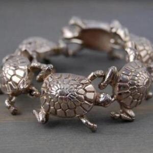 Tiffany & Co. Rare Vintage Tiffany & Co Sterling Silver Turtle Tortoise Bracelet
