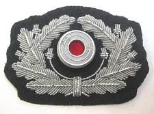German Wreath & Metal cockade Army Officers Aluminium Heer Visor Cap Hat WW2 WK2