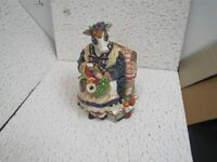 Fitz and Floyd Classics Country Mother Cow and Fruit Basket Cookie Jar