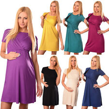 Comfortable 2in1 Maternity and Nursing Short Sleeved Scoop Neck Dress 7200