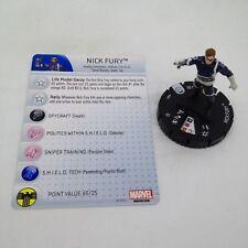 Heroclix Nick Fury, Agent of SHIELD set Nick Fury #001 Common figure w/card!