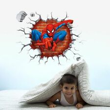 3D Super Hero Man Wall Sticker Removable Children Bedroom PVC mural decals Art
