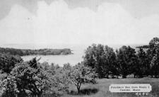 PENOBSCOT BAY FROM ROUTE 1 CAMDEN MAINE DEXTER PRESS POSTCARD (c. 1940s)