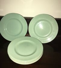 6 X Green Beryl Ware 7ins Vintage Side-plates Utility Made In England