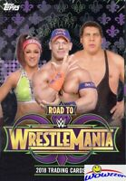 2018 Topps WWE Road to Wrestlemania HUGE Factory Sealed HANGER Box-42 Cards!