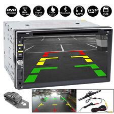 2Din HD Car Stereo DVD CD Player Bluetooth Auto Radio + Backup Parking Camera