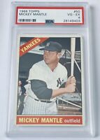 1966 Topps MICKEY MANTLE #50 PSA 4 - New York Yankees