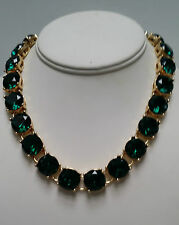 J Crew Green Crystal Necklace and Bracelet