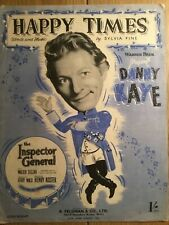 HAPPY TIMES DANNY KAYE INSPECTOR  FILM MOVIE SHEET MUSIC CAFE RESTAURANT BAR