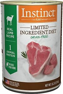 Instinct the raw brand of pure dog food LAMB formula 6 cans of 13 oz each