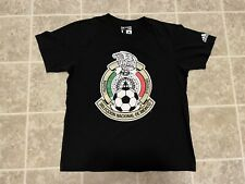 Adidas Seleccion National Mexico Logo T Shirt BlackGold Red Soccer Mens Large