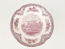 "Lavender Transferware Johnson Bros England Old Britain Castles 5"" Dessert Bowl"