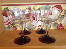 Four nice vintage 6 oz wine sherry glasses