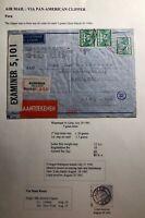 1941 Wassenaar Netherlands Censored Clipper Airmail Cover To Lima Peru
