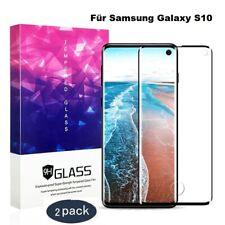 2x Schutzglas - Für Samsung Galaxy S7 S8 S9 S10 - Full Cover Panzer Schutzfolie