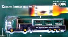 HO 1:87 TUBORG DANISH BEER TRUCK MERCEDES BENZ LOW LOADER WITH 3 BEER CRATES