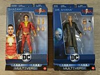 "SHAZAM! & DR SIVANA 6"" Action Figure Lot Shazam Movie DC New Damaged Packaging"