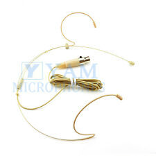 Double Hook Beige Headset Mic YAM HM1-C4S Headworn Mic For SHURE Wireless Mics