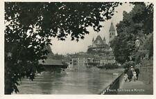 AK/Vintage postcard: THUN - Schloss & Kirche (ca. 1920)