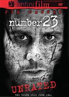 The Number 23 (DVD 2007 Unrated & Theatrical Versions) Jim Carrey Mint Condition