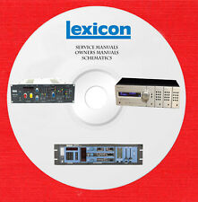 Lexicon Audio Repair Service owner manuals on 1 dvd in pdf format