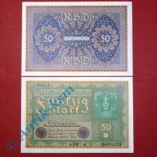 """1 x Banknote über 50 Mark / Reichsmark, """"Wiener"""" von 1919, kassenfrisch, unc"""