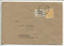 Lokal Mindelheim 1 x mit Zusatzfrankatur auf Brief nach Kaufbeuren (B06089)
