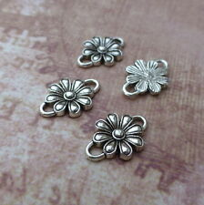 20 pcs Silver tone Connector Findings Flower, Floral Link