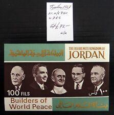 JORDAN 1967 World Peace M/Sheet (2) As Described Cat £72 NL845