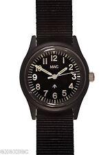 MWC Classic 1960s/70s Matt Black European Pattern Military Watch Webbing Strap