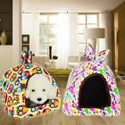 Pet Dog Cat House Canvas Cotton Kennel Puppy Bedroom Warm Cushion Bed Tent S-L