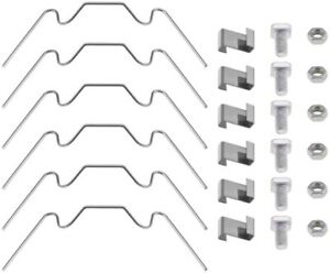 Set of Greenhouse Glazing Clip Stainless Steel Glass Pane Fixing Clip Spare Part
