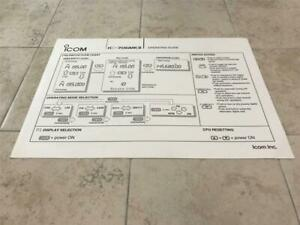 Icom IC-706MKII Operating Guide Quick Reference Card