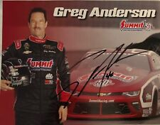 Great color photo autographed by NHRA ace Greg Anderson