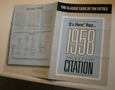Franklin Mint - The Classic Cars of the Fifties - 1958 Edsel Citation Fact Sheet