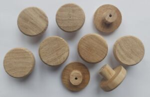 OAK Solid Wood Unfinished Wooden KNOBS 35mm handle drawer cupboard furniture NEW