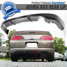 Fits 02-04 Acura RSX Poly Urethane PU Black Rear Bumper Lip Spoiler Bodykit