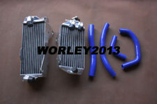 Aluminum radiator + Blue silicone hose for HONDA CRF450R 2017 2018 2019