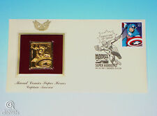 Captain America Gold Edition USPS Stamp First Day Issue Marvel Comics 2007