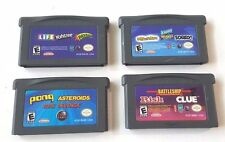4 Gameboy Advance Lot GBA SP 12 Total Games PAYDAY SORRY ASTEROIDS PONG CLUE ++