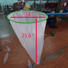 "12"" x 25.6"" BIG Aquarium Fish Net ฺBig Scoop Fish Pond"