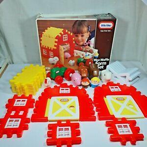 Little tikes 0901 Wee Waffle Farm Set Vintage Playset 1989 Boxed