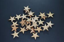 50 Qty 2 inch Wood Stars Craft Supply Flag Wooden Stars DIY 2