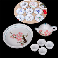 Dollhouse Miniature Decoration Tableware Porcelain Tea Set Kids Pretend Play-TJB